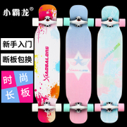 Small dragon long board skateboard Four Wheel Scooter Road youth dance in adult male and female students skateboarding beginners