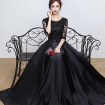 Spring and summer parties elegant black and thin dress skirt