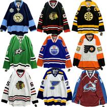 Commerce extérieur hip-hop vêtements de hockey sur glace homme et femme wave marque à manches lâches coton épais T jersey de hockey sur glace couple bf grande taille T-shirt fille