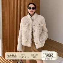 Flower outside 2021 Winter new Tuscan fur one female short loose young style fur coat
