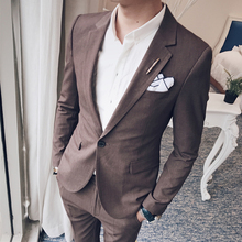 In the autumn of 2017 suits two piece suit Korean Korean club slim dress tide tide male banquet