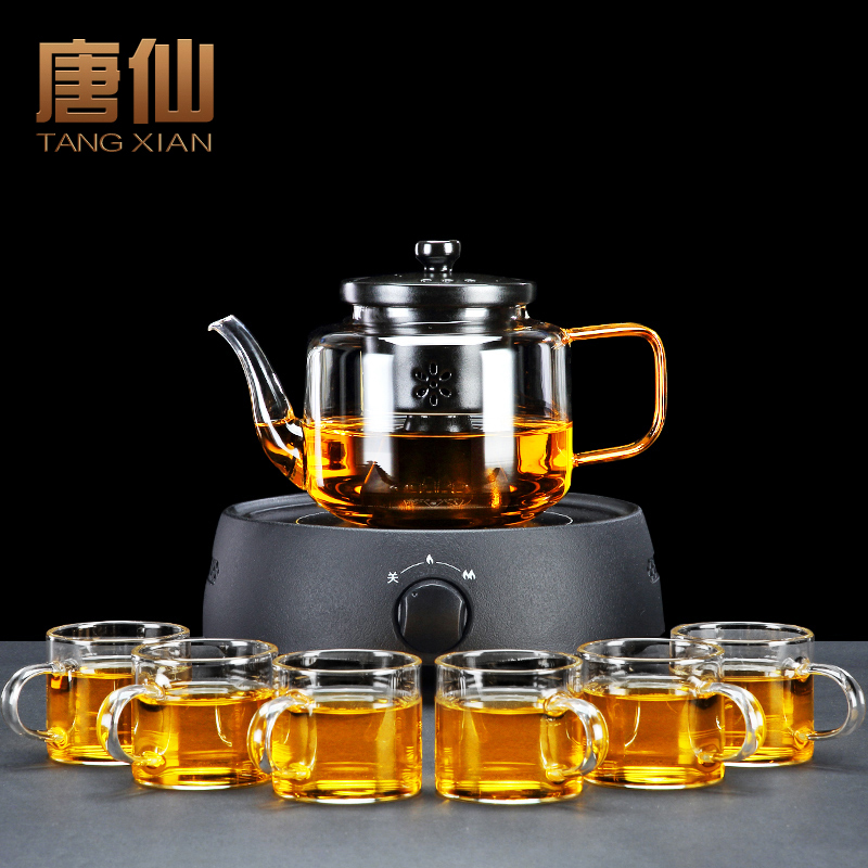Tang Xian glass side of the pot electric pottery stove electric home cooking tea set ceramic inner bile steamer tea maker teapot