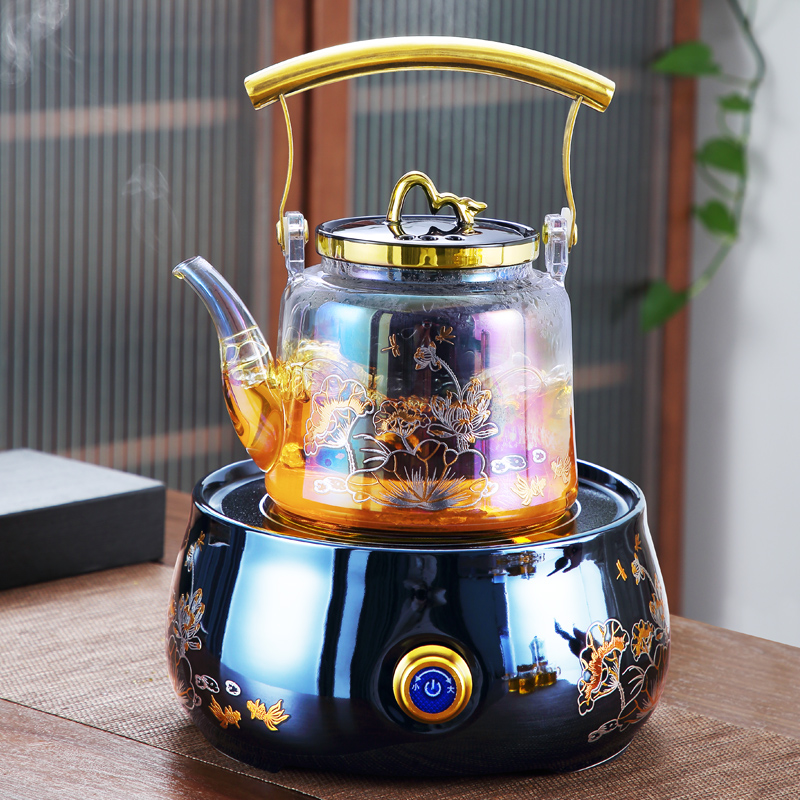Be color burning tiliang brewing teapot glass brewing tea stove small tea special electric pottery stove kettle cooking teapot electric heat