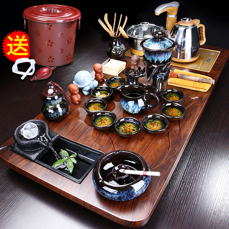 Tea set home living room office with high-end guest coffee table kettle tea plate fully automatic