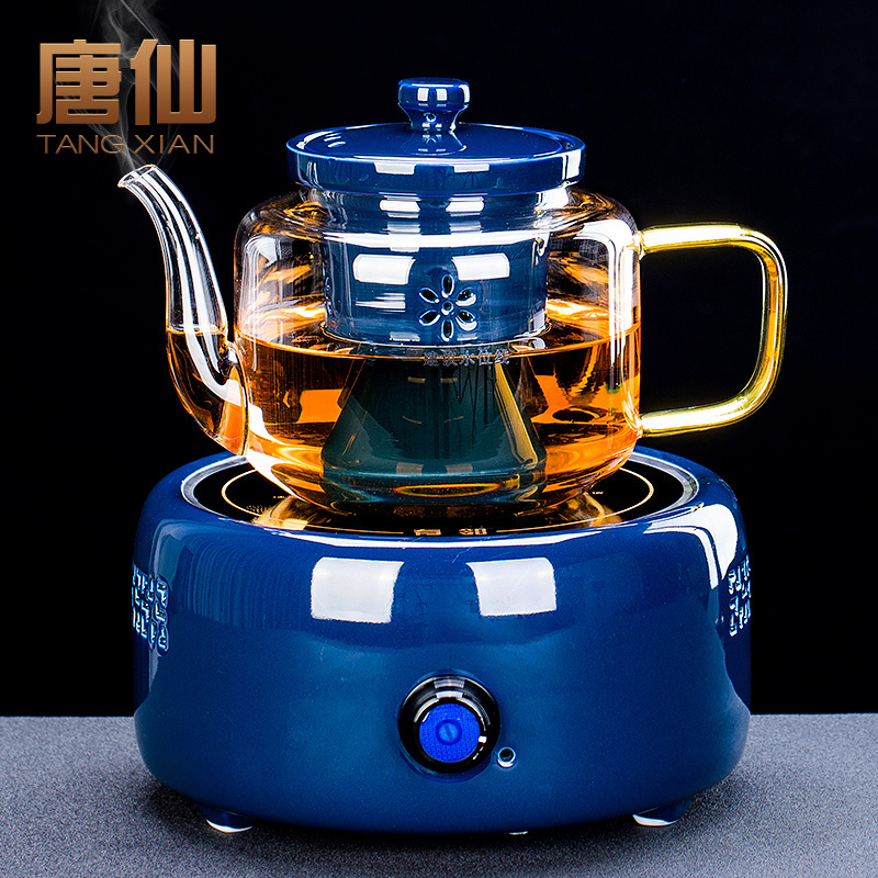 Steaming tea machine steam automatic electric pottery stove tea set home net black brewing teapot tea stove set