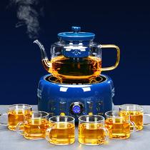 Tea maker Teapot Net red electric ceramic stove Automatic steaming teapot Glass tea maker Teapot set Home tea maker