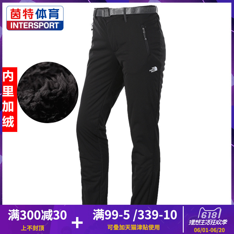 THE NORTH FACE North Pants 2018 Winter New Outdoor plus velvet Sports Warm Pants 2UEB