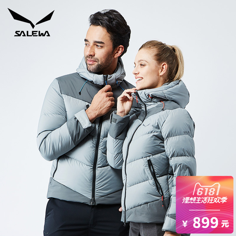 Le Lok SALEWA male and female models down jacket hooded thick warm wind snow suit 25800/25801