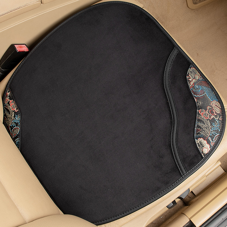 (2021 new model) Four Seasons General Motors seat cushion single-piece three-piece set embroidered suede skin-care car cushions