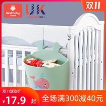 Baby 牀 hanging bag hanging basket牀 head storage bag childrens multi-functional washable diaper storage bag牀 head storage bag