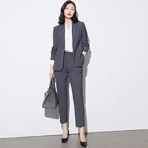 Suit suit women Autumn and Winter interview suit temperament overalls professional suit professional suit women