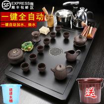 整套茶具套装家用客厅全自动电磁炉茶杯茶台实木茶盘一体茶海简约