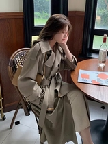 Sandro Moscoloni trench coat women Spring and Autumn wear new Korean version of temperament knee coat