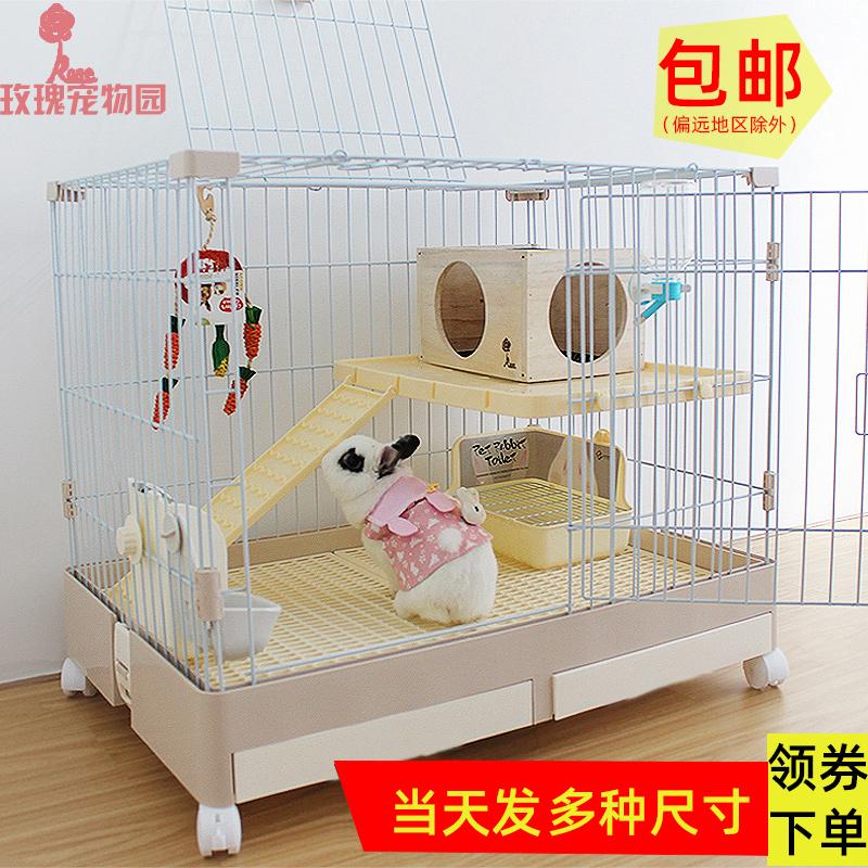 Кролик клетка автоматический навоз кролика клетка дома с очень большой кролик клетки кролика вилла гнездо кролика дом домашних животных голландских свиней клетки