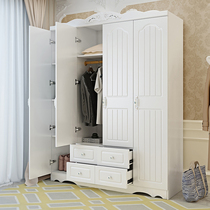 Wardrobe simple modern economy adult Assembly plate overall Cabinet bedroom two-door wardrobe three small apartment
