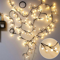 Room bedroom decoration led branches rattan lights flashing lights string lights starry star ball shop net red layout