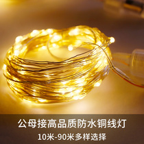 LED small lights copper wire copper wire Starlight string 110V-220V general voltage outdoor waterproof decoration