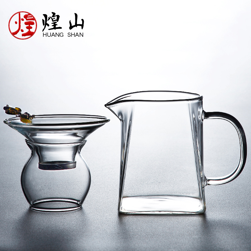 Glass fair cup tea leak all-in-one set thick heat-resistant filter tea splitter pour tea cup kung fu tea set accessories