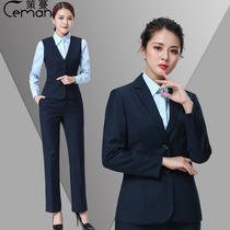 Ceman 2018 China Post Overalls Womens New Postal Savings Bank uniform jacket pants autumn and winter