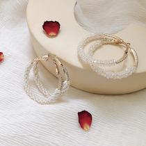 Earrings womens 2021 new fashion pearl ear ring earrings summer Korean net red with the same temperament high-grade stud earrings