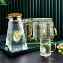 Light luxury afternoon tea tea set Fruit teapot set Tea cup heating teapot set Household glass high temperature resistance