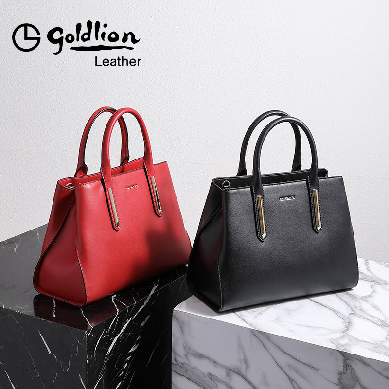 Jin Lilai lady's bag with leather oblique shoulder The new fashionable one-shoulder chic simple handbag girl in 2019