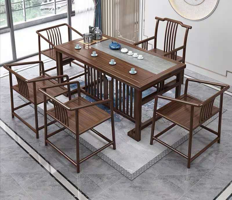 1.6 meters of large slate South birch solid wood tea table tea table tea table tea table