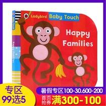 Original anglais croquis bébé Touch Happy Families Baby Touch Book Happy Family Big Open Cardboard Book Ladybird Little Ladybird.