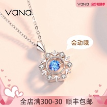 vana Beating Heart Necklace Female sterling silver inlaid Swarovski Zirconium 520 Valentines Day gift send girlfriend pendant