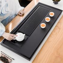 Natural black gold stone tea tray Simple household size number tea table stone modern living room Gongfu tea set Tea sea tray