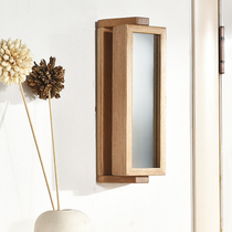 Daily special solid wood mirror box hook Xuan off oak hanger simple wall hanging multifunctional creative mirror box