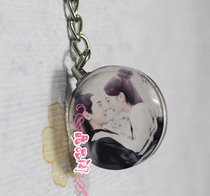 Crystal image Crystal photo souvenir custom pendant pendant round mobile phone keyfo necklace