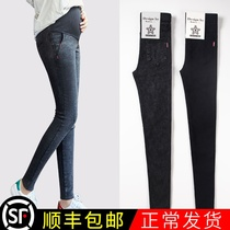 Maternity pants autumn and winter models wear jeans spring and autumn fashion plus thick plush tide mom Little Foot leggings spring