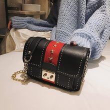 Winter trend wind lock chain bag shoulder diagonal female