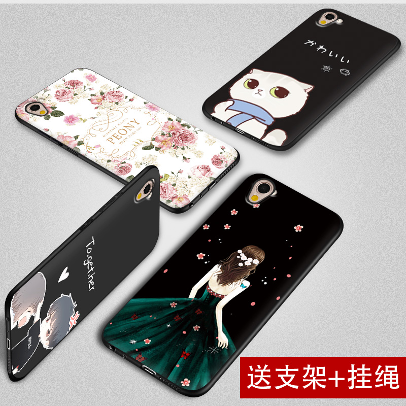 Oppoa37 mobile phone shell oppo a37m mobile phone soft silicone anti slip cartoon protective cover a37t shell female
