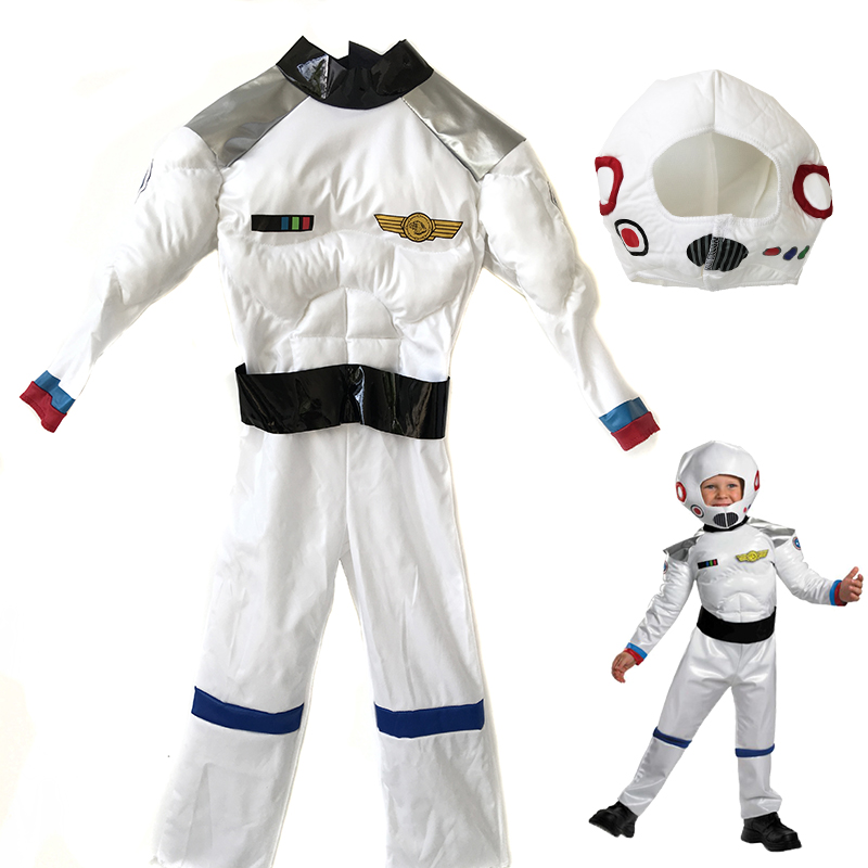 Christmas Children's Day Boy Astronaut Clothing Aerospace Toy Muscle Clothing Costplay Clothing