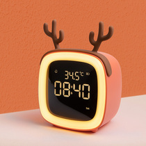 Smart electronic small alarm students with a 牀 silent clock cartoon children dedicated multi-function rechargeable alarm