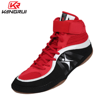 Conrad Boxing shoes professional weightlifting shoes men and women wrestling shoes fitness training Sanda Fight breathable high-help shoes