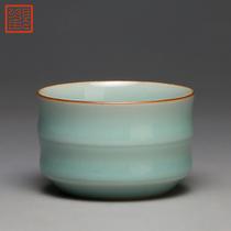 Viewing the museum tea cup ceramic sample tea cup Longquan kiln celadon Kung Fu tea cup host cup bamboo cup single cup