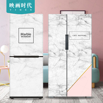 INS wind marble custom removable refrigerator sticker film decorative painting refurbished self-adhesive waterproof air Conditioning freezer Sticker