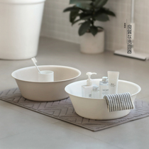 Japanese simple washbasin thickened large small and medium-sized household dormitory laundry basin pp Plastic baby basin