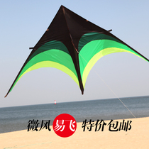 Weifang Kite Children Prairie umbrella cloth kite Breeze easy to fly triangle kite adult large new wiring wheel