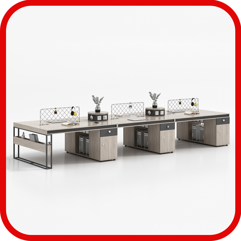 Staff desk 4 people double 46 staff creative card seat office table and chair table combination industrial wind