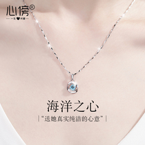 999 sterling silver necklace female light luxury niche design pendant 2021 new item jewelry 520 birthday Valentines day gift