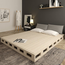 Custom solid wood hard cardboard mattress plank waist frame 1.5 double 1.8 meters hard tatami plate row skeleton bed