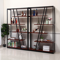 Floor Wine Cabinet Home partition cabinet simple creative bar red wine frame display cabinet living room decorative Shelf