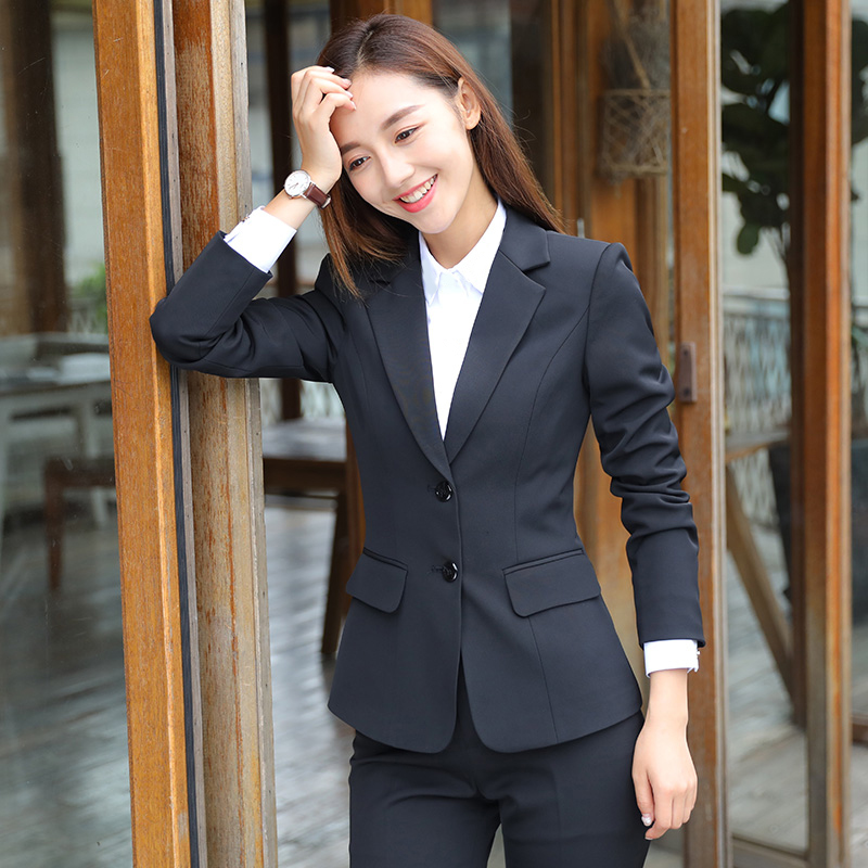 Suit suit Female ol workwear professional clothing female Korean version fashion temperament formal college interview autumn and winter suit