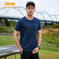 Jeep Jeep T-Shirt de lété hommes de sports de plein air T-Shirt à séchage rapide hommes sweat-shirt à Manches Courtes hommes de léquipage sweat-shirt