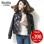 Leather jacket leather female short baseball uniform sheep leather jacket slim collar Haining new thick coat