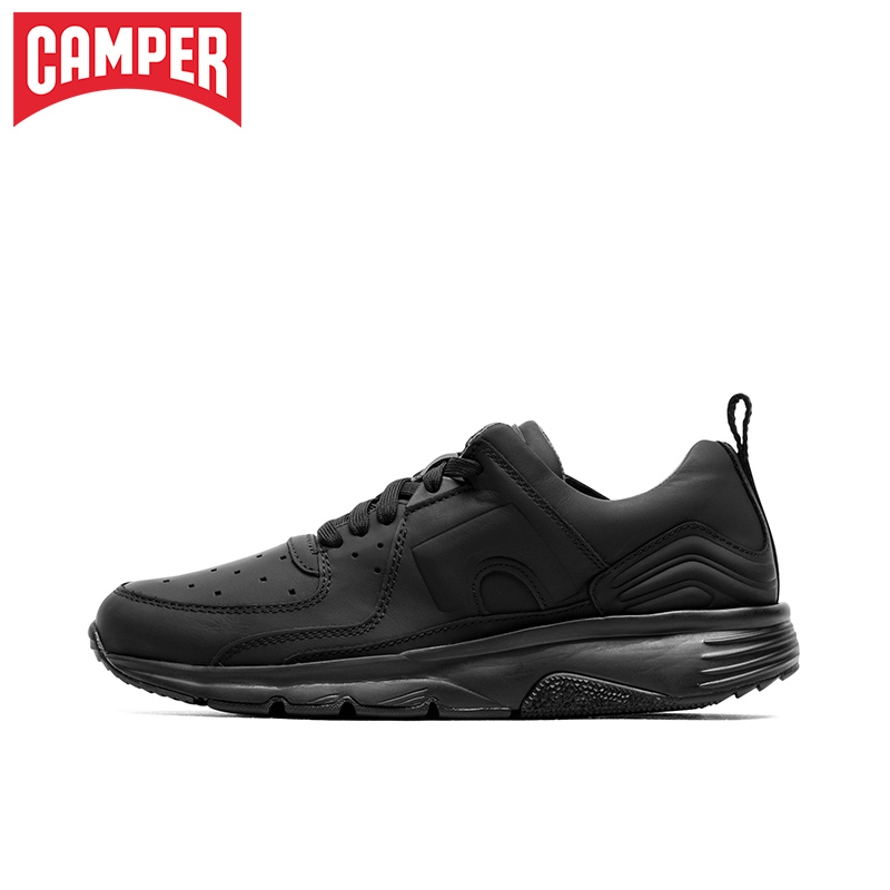 Camper Walkers Drift Fashion Simple Light Sports Leather Shoes Personal Round-Headed Leisure Shoes